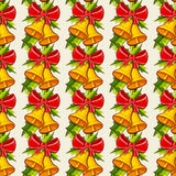 Christmas background with bells. Vector seamless pattern. Royalty Free Stock Image