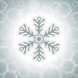 Christmas background with big snowflake Stock Photography