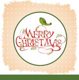 Christmas background with birds Stock Image