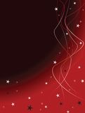 Christmas background black. With white stars and ribbons Royalty Free Stock Images