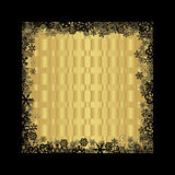 Christmas background. Christmas black and golden background with snowflakes Royalty Free Stock Photography
