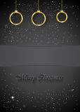 Christmas Background black. Christmas background for seasonal cards and event, posters Royalty Free Illustration