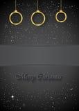 Christmas Background black Royalty Free Stock Photos