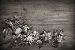 Christmas background black and white Royalty Free Stock Image