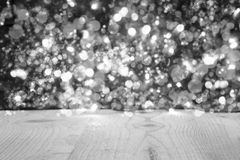 Christmas Background With Black And White Bright Glowing Lights Royalty Free Stock Images
