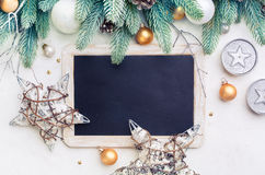 Christmas background  and blackboard Stock Image