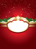 Christmas background with blank label Royalty Free Stock Photos