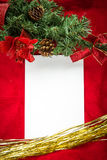 Christmas background  blank note paper Top view Stock Photos