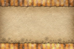 Christmas background - blank paper sheet Stock Photography