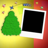 Christmas background blank photo frame Stock Photos