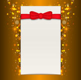 Christmas background with blank sheet of paper. Stock Image