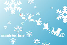 Christmas background blue Royalty Free Stock Photos