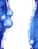 Christmas background in blue Royalty Free Stock Photography