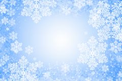 Christmas background in blue Stock Image