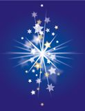 Christmas Background blue. Blue christmas background with stars Stock Images