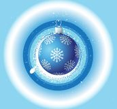 Christmas background and blue ball Stock Photo