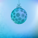 Christmas background with blue ball.  + EPS8. Vector file Vector Illustration