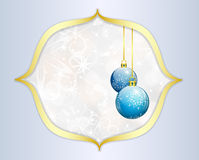 Christmas background with blue balls Royalty Free Stock Photography