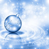 Christmas background blue balls Stock Photo