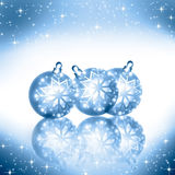 Christmas background blue balls Stock Photography
