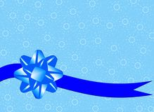 Christmas background with blue band Stock Photo