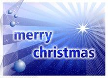 Christmas background. Christmas blue background, bitmap illustration Stock Photos
