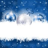 Christmas background in blue with copy space Stock Image