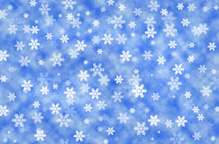 Christmas Background. Christmas blue background with snowflakes Royalty Free Stock Photography