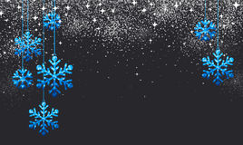 Christmas background with blue snowflakes. Royalty Free Stock Image