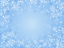 Christmas background blue. Christmas background with snowflakes for your design stock photos