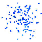 Christmas background with blue stars Stock Photo