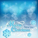Christmas background in blue Stock Images