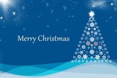 Christmas background blue Stock Photography