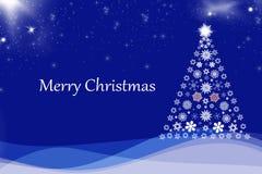 Christmas background blue Stock Photos