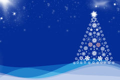 Christmas background blue Royalty Free Stock Image