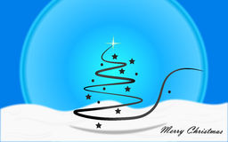 Christmas background. Christmas blue background with christmas tree Royalty Free Stock Photo