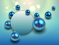 Christmas background blue Royalty Free Stock Images