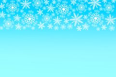 Christmas background in blue and white Royalty Free Stock Images