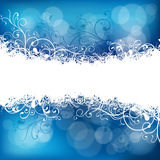 Christmas background in blue Royalty Free Stock Photos