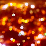Christmas background of blur bokeh lights Royalty Free Stock Photos