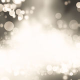 Christmas Background.  Blurred Bokeh. Christmas Background. Golden Holiday Abstract Glitter Defocused Background With Blinking Stars. Blurred Bokeh Stock Images