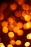 Christmas background of blurred lights Stock Images