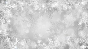 Christmas background of blurred snowflakes vector illustration