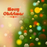 Christmas Background with Bokeh Effect Royalty Free Stock Image