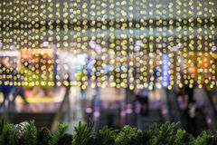 Christmas background with bokeh light Royalty Free Stock Image