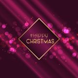 Christmas background with bokeh lights design vector illustration
