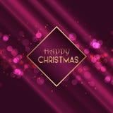 Christmas background with bokeh lights design vector illustration
