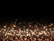 Christmas background of bokeh lights. Christmas background of gold bokeh lights Stock Photography