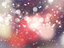 Christmas background of bokeh lights and stars. Decorative Christmas background with bokeh lights and stars Royalty Free Stock Photo