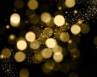 Christmas background of bokeh lights, stars and sparkle lights stock illustration